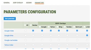 Configuration des paramètres